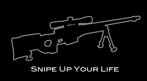 "T-Shirt ""Snipe Up Your Life"""