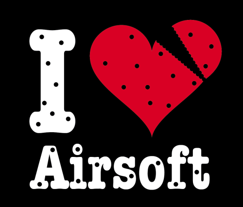 "T-Shirt ""I Love Airsoft - Broken Heart"""