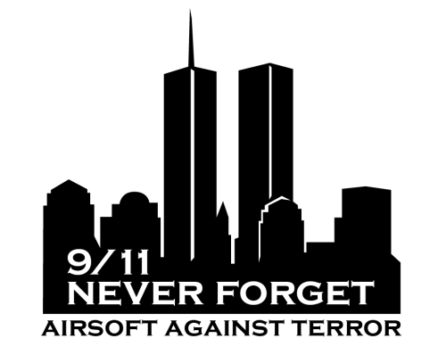 "T-Shirt ""9/11 Never Forget - Airsoft Against Terror"""