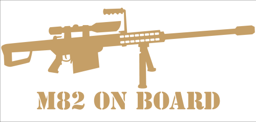"Aufkleber ""M82 On Board"" gold"
