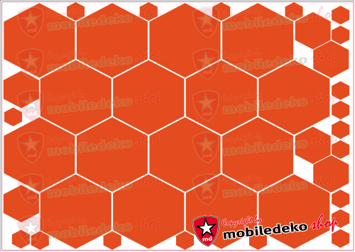"Hexagon 034 orange ""groß"""