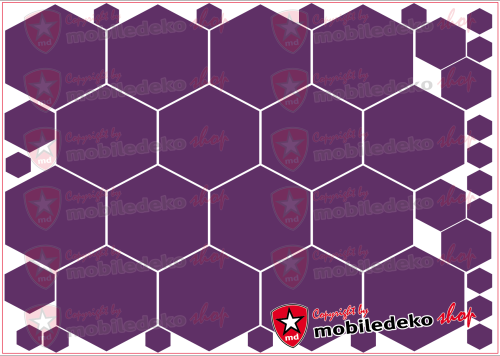 "Hexagon 040 violett ""groß"""